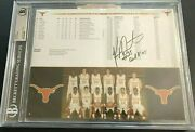 Kevin Durant Nets Autographed 2006 Texas Longhorns Signed Game Program 10x13 Bas
