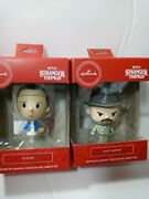 Stranger Things Chief Hopper And Eleven Christmas Ornaments New Combo