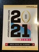 National Championship 2021 Very Rare 1/1 Book Get Them While They Last🏈🏈