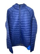 Columbia Men's South Valley Hybrid Hooded Jacket, Blue, Large Nwt Free Shipping