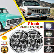 Dot Pair 7 Inch Osram Led Headlights With Drl For Chevy Pickup Truck C10 C20 C30