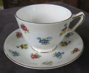 Royal Victoria Petite Fleur Bone China Cup And Saucer Made In England