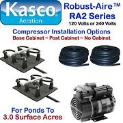 Kasco Aeration Robust-aire Rah2pm Ponds For To 3.0 Surface Acres 240v Post Mount
