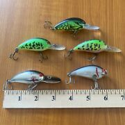 Bomber Crank Bait Fishing Lure Bait Lot Of 5 Combine Shipping And Save