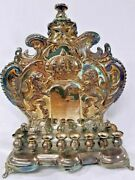 Antique Silver Plated Chanukah Lamp, 1900