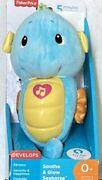 Nib Fisher-price Soothe 'n Glow Seahorse - Blue Baby Musical Toy