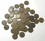 Solid Date Roll Of 50 1909 Indian Head Cents Pennies 50 Coins Better Date
