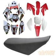 Red Plastic Fender + Seat + Stickers For Honda Crf 70 150 160cc Dirt Pit Bike