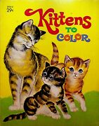 Kittens To Color Coloring Book Western Publishing 1971 Cute Cats 2930-e