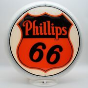 Phillips 66 Gas Pump Globe - Ships Fully Assembled Ready For Your Pump