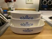 Vintage Corning Ware Blue Dishandrsquos 1960and039s