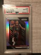 2018 Panini Prizm Silver Prizms Trae Young Rookie Rc 78 Psa 10 Gem Mint