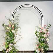 Wrought Iron Arch Door Flower Balloons Backdrop Stand Outdoor Party Decoration