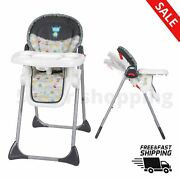 Baby High Chair Adjustable Sit Right Tanzania Fun Shapes Printed Fabric Safe