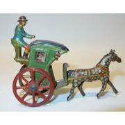 Penny Tin Germany Meier Or Fisher Penny Toy Handsome Cab Coach Wagon Litho