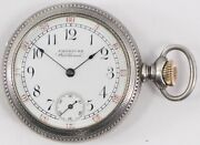 American Waltham Pocket Watch 3 Hands Open Face 12 Hour Silver Casing