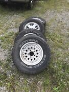 Used Set Of 4 Winter Tires With 15 Rims For Chevy 5 Lug - Rear Tires W/studs