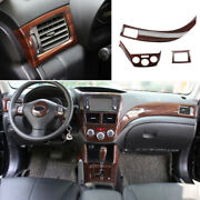For Subaru Forester 2009-13 Wood Grain Left And Right Air Outlet Vent Trim 3pcs