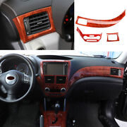 For 2009-13 Subaru Forester Peach Wood Grain Left And Right Air Outlet Vent Trim