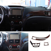 For Subaru Forester 2009-13 Wood Grain Left And Right Air Outlet Vent Trim 3x