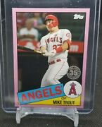 2020 Topps On Demand Mini Mike Trout 1985 Insert Card Sp /25 Rare