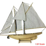Diy 187 Scale Wooden Sailing Boat Model Kit Ship Assembly Home Decoration Gift