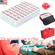 Mah-jong Chinese Numbered Mahjong Set 144 Tiles Portable Chinese Game For Party
