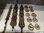 Collection Of Used Vintage Brass Horse Brasses Job Lot 12