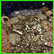 Estate Lot Old Us Coins And Currency Silver Gold Base Level