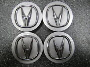 Set Of 4 Oem Acura Center Caps Silver And Chrome 44742- 69mm 2.75 53mm Logo