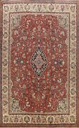 Vintage Floral Vegetable Dye Sarouk Large Area Rug Hand-knotted Oriental 11and039x14and039