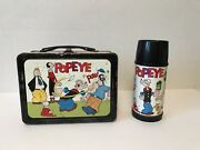 Vintage Rare R-8 1962 Popeye Lunchbox By Universal With Thermos.