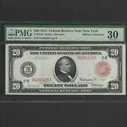 Fr 953a 20 1914 Federal Reserve Note New York Pmg 30 Red Seal Ships Free