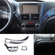 For 2009-13 Subaru Forester Carbon Fiber Left And Right Air Outlet Vent Trim 3pc
