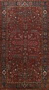 Antique Geometric All-over Heriz Hand-knotted Area Rug Dining Room Carpet 8and039x12and039