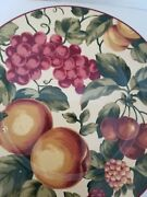 Waverly Garden Room Made In Poland Salad Plates With Pictures Of Fruit/leaves