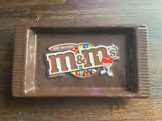 Mandm 2008 Ceramic Candy Dish Official Licensed Product Milk Chocolate Brown