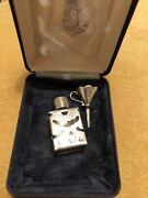 A Wedgwood Mini Sterling Silver Perfume Bottle With Funnel And Presentation Box