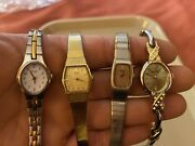 Vintage Ladies Watches Lot Of 4 All Need Batteries 2 X Seiko Pulsar Waltham