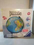 Ravensburger 3d Puzzle Ball World Globe 540 Pieces Display Stand Included Sealed