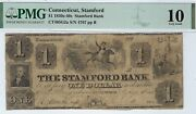 Connecticut - Stamford Bank 1 - Haxby Ct 405-g2a - Pmg Very Good 10 - Rare