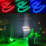 Fia 17.5 Wheel Rings Lights + 2x 6.5ft Underglow Lighted Strips Rgb Multi-color