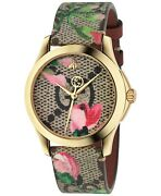 Ya1264038 G-timeless 38mm Womenand039s Multicolored Canvas Watch