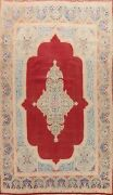 Antique Geometric Red 10x14 Kirman Hand-knotted Traditional Area Rug Wool Carpet