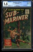 Sub-mariner Comics 39 Cgc Fa/gd 1.5 Cream To Off White Timely