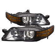 Headlights Hid Type Chrome Only Set W/o Bulb Fits 2006 Acura Tl