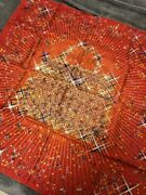 Hermes Scarf Magic Kelly Carre 90 Rouge Red Silk Shawl Wrap Auth Paris Stole