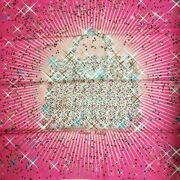 Hermes Scarf Magic Kelly Carre 90 Pink Soldes Silk Shawl Wrap Auth Paris Stole