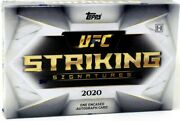 2020 Topps Ufc Striking Signatures Hobby 20 Box Case Blowout Cards