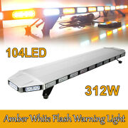 Strobe Light Bar Emergency Beacon Warn Tow Truck Response 47 104led Amber White